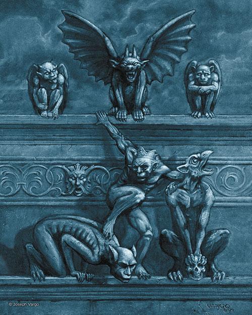 gargoyles gothic fantasy artwork by joseph vargo